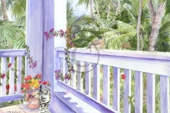 Cori's Casaurina Patio - Watercolor