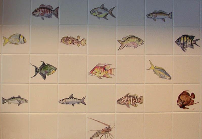 Ceramic Tiles - Fish
